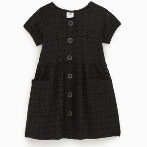 Black dress with lace imprint